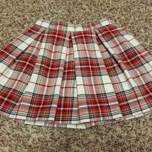 Janie and Jack plaid pleated skirt
